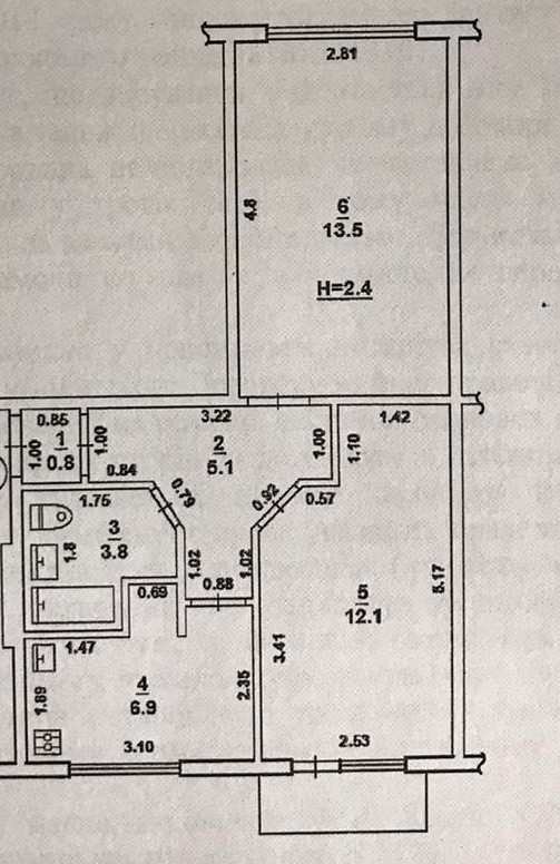 25а Костычева,Харьковская область,2 Комнат Комнат,1 ВаннаяВанных комнат,Житлова нерухомість,Костычева,5,1229